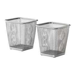 Suport pentru pixuri argintiu