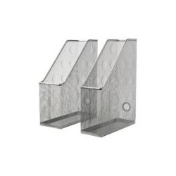 Set suporturi reviste, 2 buc, argintiu
