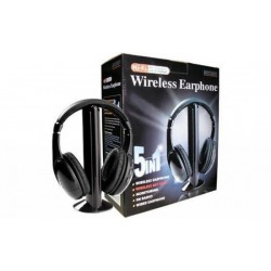 Casti wireless 5 in 1 cu microfon si radio FM incorporat