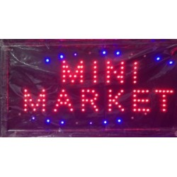 "Panou luminos cu leduri multicolore-""MINI MARKET"""