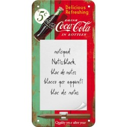 "Bloc notes magnetic ""Coca-Cola Delicious Refreshing Green"""