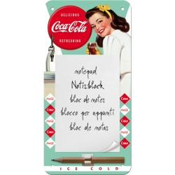 "Bloc notes magnetic ""Coca-Cola Diner Lady"""