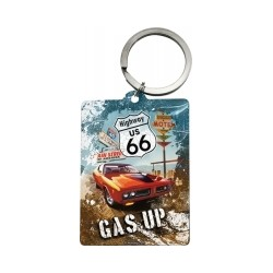 """Breloc """"Highway 66 Red Car Gas Up"""""""