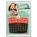 "Calendar metalic de birou ""A Clean House is a Sign of a wasted life""(10/14cm)"