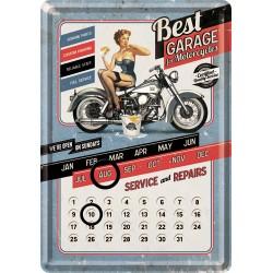 "Calendar metalic de birou ""Best Garage Blue""(10/14cm)"
