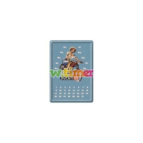 """Calendar metalic de birou """"Ducati 60""""(10/14cm)"""