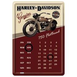 """Calendar metalic de birou """"Harley-Davidson Flathead""""(10/14cm)"""