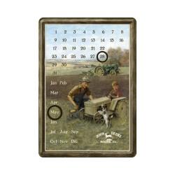 "Calendar metalic de birou ""John Deere Farm"" (10/14cm)"