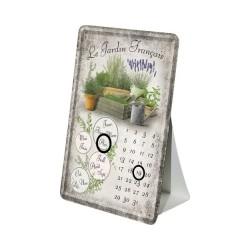 """Calendar metalic de birou """"Le Jardin Francais""""(10/14cm)"""