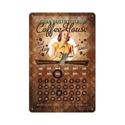 """Calendar metalic de perete """"Coffee House""""(20/30cm)"""