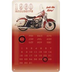 """Calendar metalic de perete """"Feels Like Flying""""(20/30cm)"""