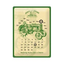 "Calendar metalic de perete ""John Deere Vintage""(30/40cm)"