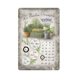 "Calendar metalic de perete ""Le Jardin Francais""(20/30cm)"