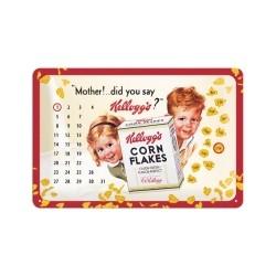 "Calendar metalic de perete ""Mother!.. Did you say Kellogg`s?""(20/30cm)"
