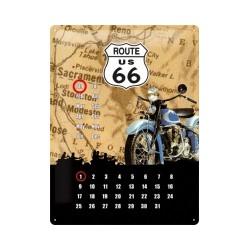 "Calendar metalic de perete ""Route 66""(30/40cm)"