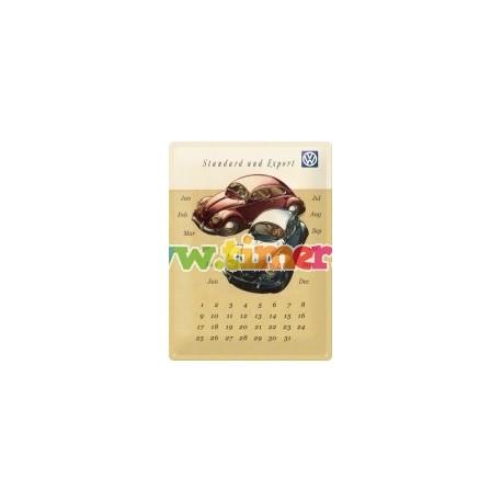 """Calendar metalic de perete """"VW"""" (30/40cm)"""