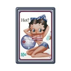 "Carte postala metalica ""Betty Boop - Hot"""