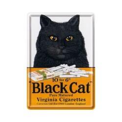 "Carte postala metalica ""Black Cat"""