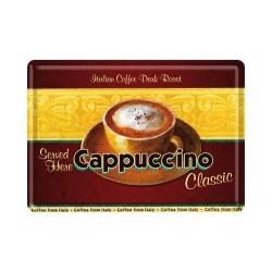 "Carte postala metalica ""Cappuccino"""