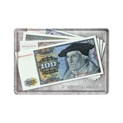 """Carte postala metalica """"Deutsche mark """"- bancnote"""