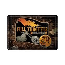 "Carte postala metalica ""Full Throttle"""
