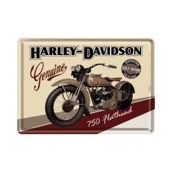 "Carte postala metalica ""Harley-Davidson Flathead"""
