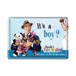 "Carte postala metalica ""It's a Boy?"""