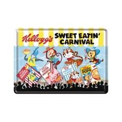 "Carte postala metalica ""Kellogg`s Sweet Eatin` Carnival"""
