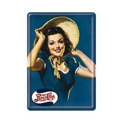 "Carte postala metalica ""Lady Pepsi-Cola"""