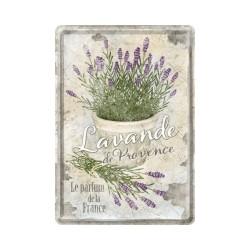 """Carte postala metalica """"Lavande de Provence"""""""