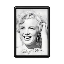 "Carte postala metalica ""Marilyn Monroe - alb/negru"""