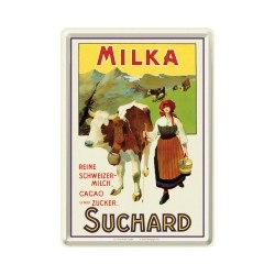 "Carte postala metalica ""Milka Suchard"""