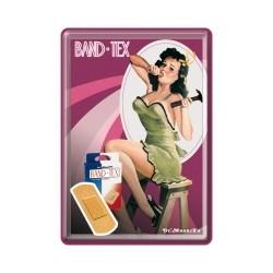 "Carte postala metalica ""Pin Up - Band-Tex"""