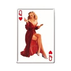 "Carte postala metalica ""Pin Up - Queen of hearts"""