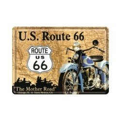 "Carte postala metalica ""Route 66 """