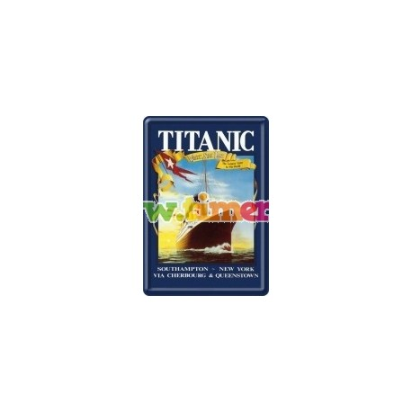 "Carte postala metalica ""Titanic Sunset"""