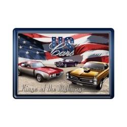 "Carte postala metalica ""US Cars"""