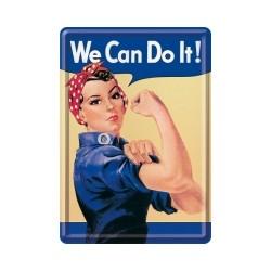 "Carte postala metalica ""We can do it!"""