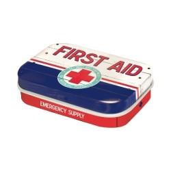 "Cutie metalica de buzunar ""First Aid Blue"""