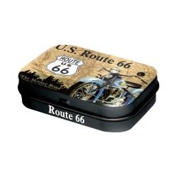 """Cutie metalica de buzunar """"Route 66 Map"""""""
