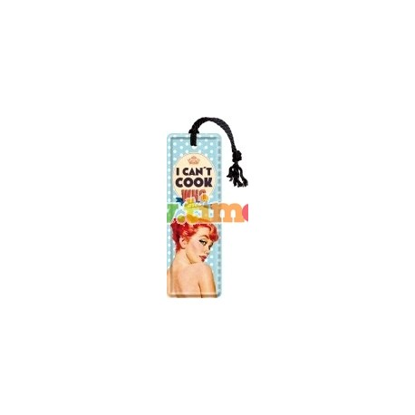 "Semn de carte ""Can't Cook. Who Cares?"""