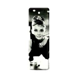 """Semn de carte metalic """"Audrey Hepburn - Holly Golightly"""""""