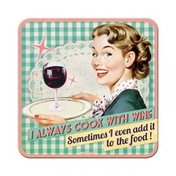 """Suport pahar """"Cook With Wine...''"""