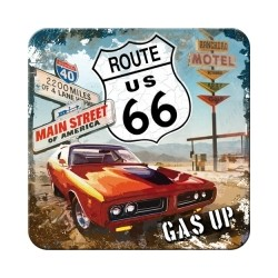 """Suport pahar """"Route 66 Red Car Gas Up"""""""