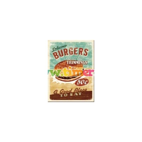 "Magnet ""Delicious Burgers"""
