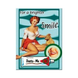 "Magnet ""Pin Up - For a brighter smile"""