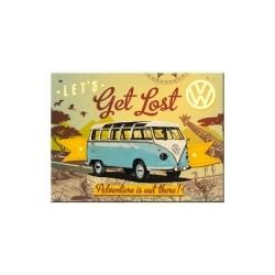 """Magnet """"VW Bulli - Let's get lost"""""""