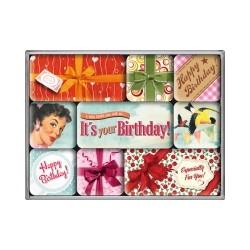 """Set magneti """"Happy Birthday"""""""