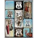 "Set magneti ""Route 66 - Blue"""