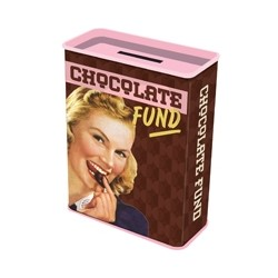 "Pusculita metal ""CHOCOLATE FUND"""